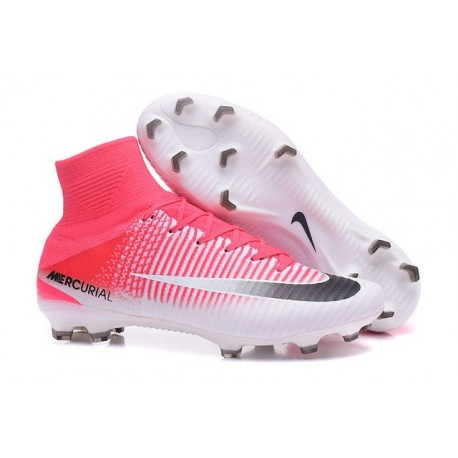 New 2017 Nike Mercurial Superfly V FG ACC Soccer Boots Pink Black White