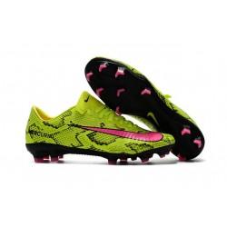 Nike Mercurial Vapor 11 FG 2017 Soccer Shoes Yellow Pink