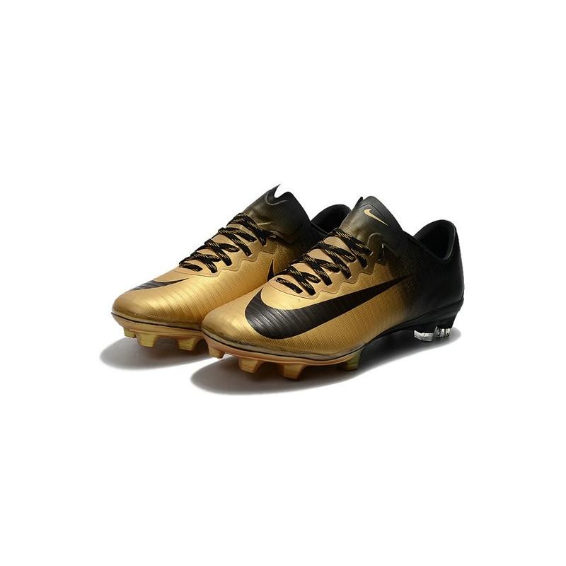 nike mercurial vapor 11 fg 2017 soccer shoes gold black. Black Bedroom Furniture Sets. Home Design Ideas