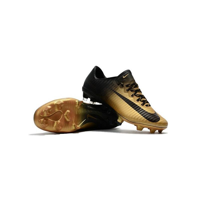 nike mercurial vapor 11 fg 2017 soccer shoes gold black