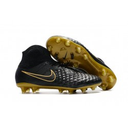 Nike Magista Obra II FG Men Soccer Cleat Black Golden