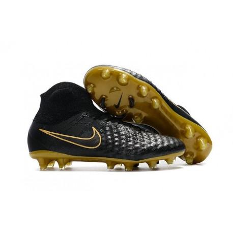 Nike Magista Obra II FG Men Soccer Cleat Black Golden