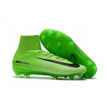 New 2017 Nike Mercurial Superfly V FG ACC Soccer Boots Green Black