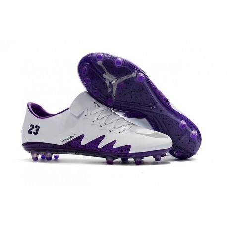 New Neymar X Jordan NJR Nike Hypervenom Phinish FG ACC White Purple