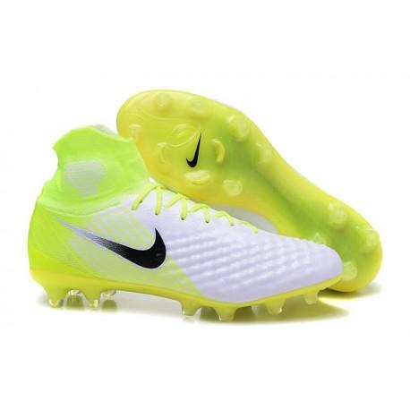 Nike Magista Obra II FG Men Soccer Cleat White Volt Black