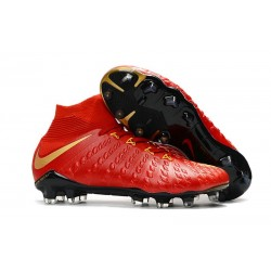 Nike Hypervenom Phantom III DF FG Firm Ground Boots Red Gold