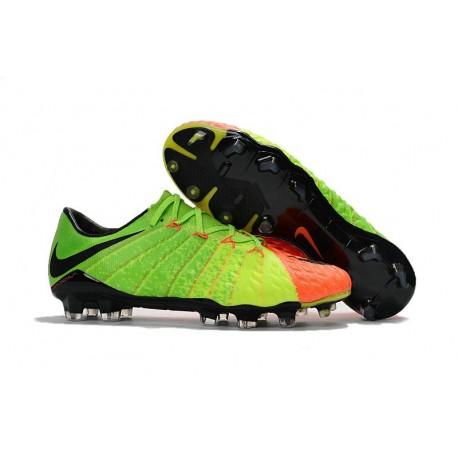 Nike Hypervenom Phantom 3 FG Tech Craft Shoes Electric Green Orange