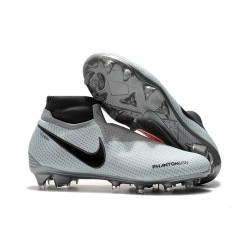 Nike Phantom Vision Elite DF FG Boots - Grey Black Crimson