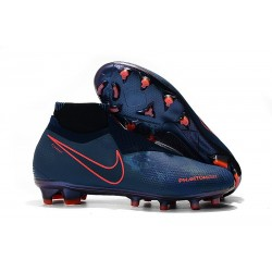"Nike Phantom Vision Elite FG ""Fully Charged"" Obsidian Black Blue"
