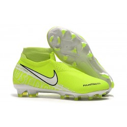 Nike Phantom Vision Elite FG Soccer Cleats Volt White Obsidian