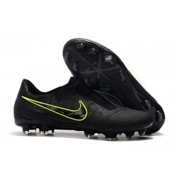 Nike Soccer Shoes Phantom Vnm Elite FG Black Volt