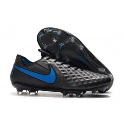Nike Tiempo Legend 8 Elite FG Boot - Black Blue