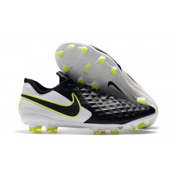 Nike Tiempo Legend 8 Elite FG Boot - Black White Volt