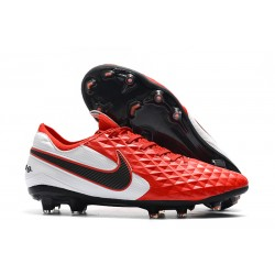 Nike Tiempo Legend 8 Elite FG Boot - Red White Black