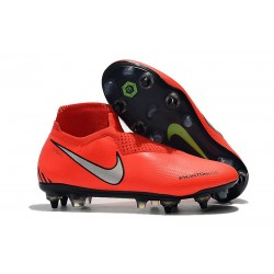 Nike Phantom Vision Elite DF SG-PRO Bright Crimson Metallic Silver