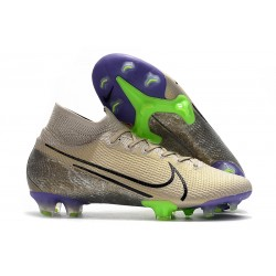 Nike Mercurial Superfly 7 Elite FG Terra - Desert Sand Black Psychic Purple