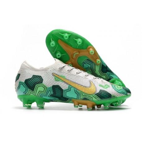 Nike Mercurial Vapor Elite AG x Mbappé Vast Grey Gold Electro Green