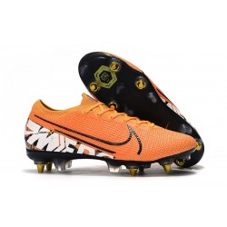 Nike Mercurial Vapor XIII Elite Anti-Clog SG-Pro Orange White Black