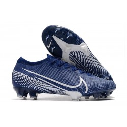 Nike Mercurial Vapor 13 Elite FG Cleat Blue White