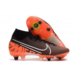Nike Mercurial Superfly 7 Elite SG-PRO Anti-Clog Black White Hyper Crimson