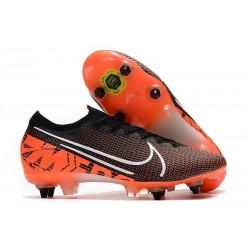 Nike Mercurial Vapor XIII Elite Anti-Clog SG-Pro Black White Hyper Crimson