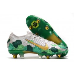 Nike Mercurial Vapor XIII Elite Anti-Clog SG-Pro Mbappé Vast Grey Gold Electro Green