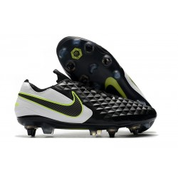 Nike Tiempo Legend 8 Elite SG-PRO Anti-Clog Black White Volt