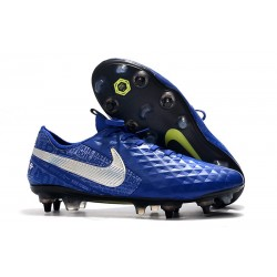 Nike Tiempo Legend 8 Elite SG-PRO Anti-Clog Blue Silver