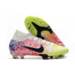 Nike News Mercurial Superfly VII Elite FG Neymar White Black Racer Blue Volt