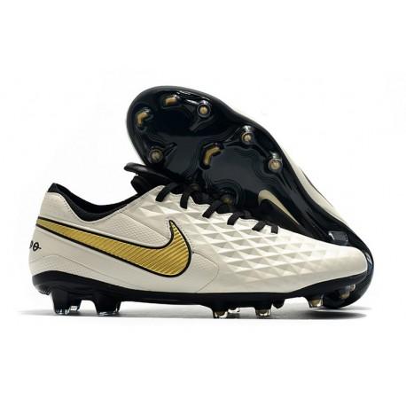 Nike Tiempo Legend 8 Elite FG Boot - White Gold Black