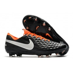 Nike Tiempo Legend 8 Elite FG Boot - Black White Orange