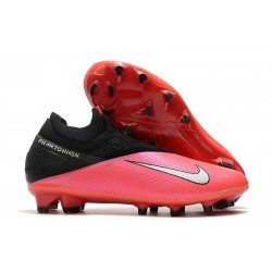 New 2020 Nike Phantom VSN 2 Elite DF FG Crimson Metallic Silver Black