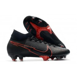 Nike Mercurial Superfly 7 Elite DF FG Black Red