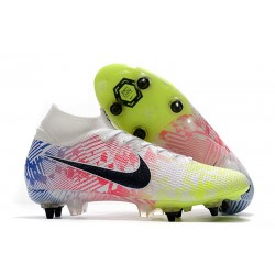 Nike Mercurial Superfly 7 Elite SG-PRO Anti-Clog Neymar White Black Blue Volt