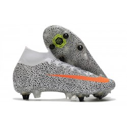 Nike Mercurial Superfly 7 Elite SG-PRO Anti-Clog CR7 Safari - White Total Orange Black