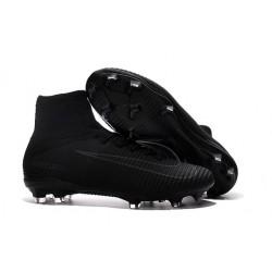 New 2017 Nike Mercurial Superfly V FG ACC Soccer Boots Black Grey