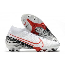 Nike Mercurial Superfly 7 Elite DF FG LAB2 - White Laser Crimson Black