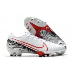 Mens Nike Mercurial Vapor XIII Elite FG LAB2 - White Laser Crimson Black
