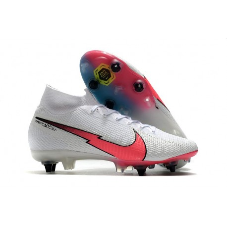 New Nike Mercurial Superfly VII Elite SG-PRO White Red