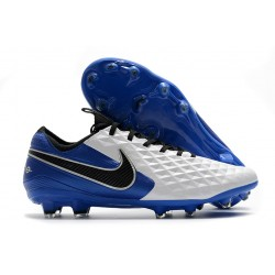 Nike Tiempo Legend VIII Elite FG K-Leather White Royal Blue Black