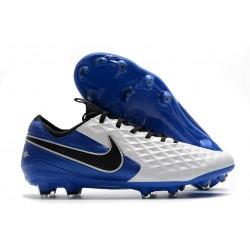 Nike Tiempo Legend VIII Elite FG K-Leather White Royal Blue Black