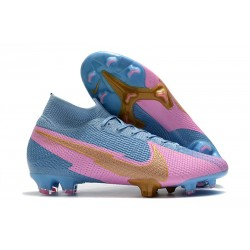 Nike Mercurial Superfly VII Elite FG ACC Blue Pink Golden