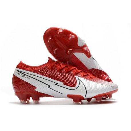 Mens Nike Mercurial Vapor XIII Elite FG Red White