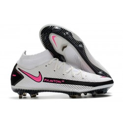 New 2021 Nike Phantom Gt Elite Df Fg - White Pink Black