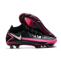 New 2021 Nike Phantom Gt Elite Df Fg -Black Pink Blast Metallic Silver