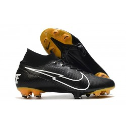 Nike Mercurial Superfly VII Elite FG ACC Leather Black White