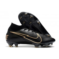Nike Mercurial Superfly VII Elite FG ACC Leather Black Gold