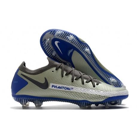 Nike Phantom GT Elite FG Mens Soccer Cleat Blue Gray Black