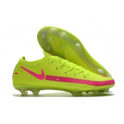 Nike Phantom GT Elite FG Brazil Soccer Cleat Volt Pink