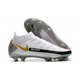 Nike Phantom GT Elite DF FG Soccer Shoes White Black Red